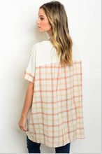 Load image into Gallery viewer, Plaid Back Tunic