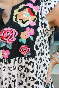 Wild Flower Embroidered Top