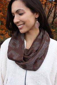 Leopard Infinity Scarf - Brown