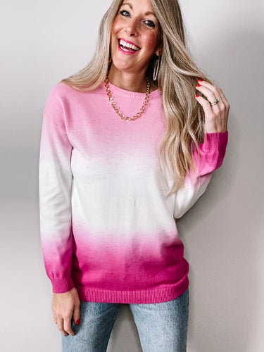 Pink Ombre Sweater