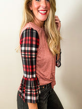 Load image into Gallery viewer, Holly Jolly Plaid Top