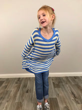 Load image into Gallery viewer, Girls Blue Lagoon Tunic Sweater