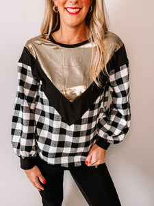 Very Merry Flannel Top - White