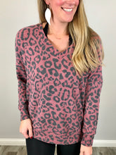 Load image into Gallery viewer, Lounging in Leopard Top