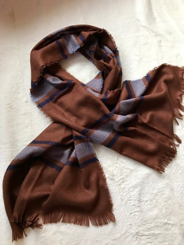 Brown Wrap Shawl Scarf