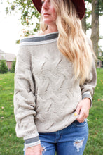 Load image into Gallery viewer, FLASH SALE -Falling in Love Cable Sweater