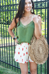 Olive Lace Tank