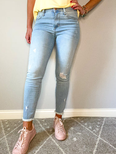 Bleached Out Mid-Rise Jeans