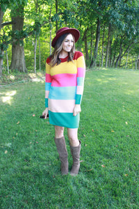 ColorFALL Sweater Dress