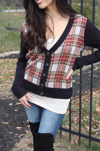 Perfectly Plaid Cardigan