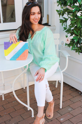 Hint of Mint Gauze Top