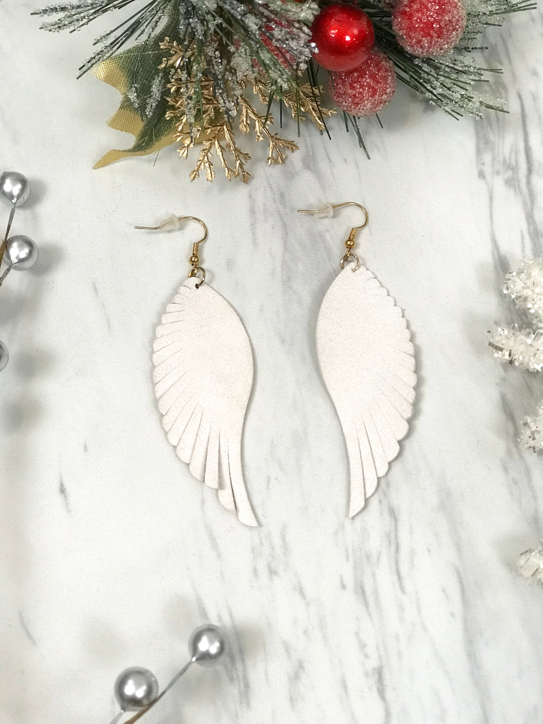Angels of Heaven Leather Earrings