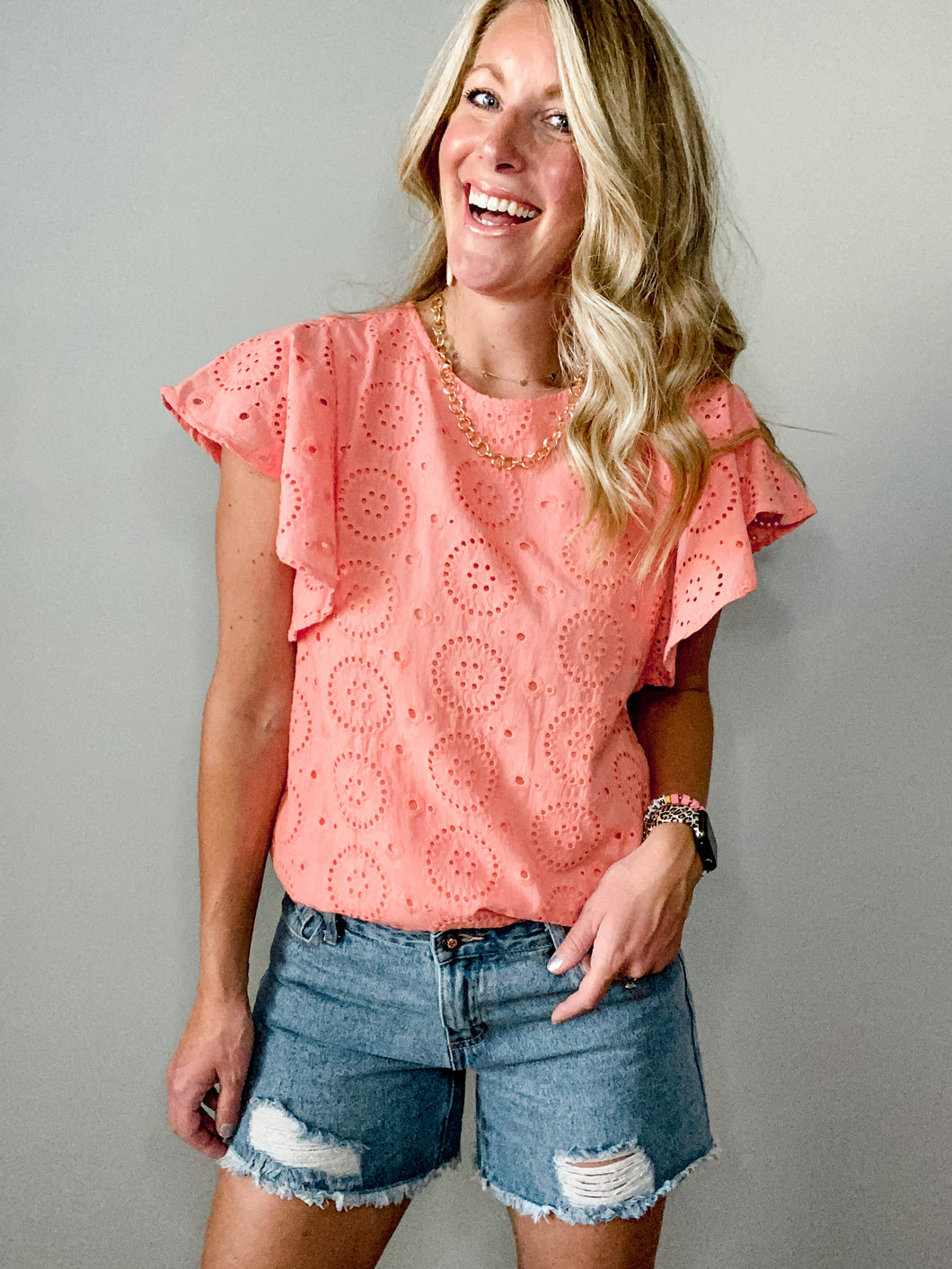 Lost in Love Eyelet Top