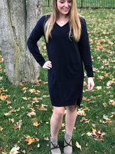 Load image into Gallery viewer, Navy Sweater Dress