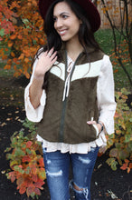 Load image into Gallery viewer, Chevron Sherpa Vest
