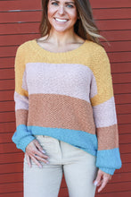 Load image into Gallery viewer, Fall Color-block Sweater