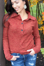 Load image into Gallery viewer, Harvest Henley Sweater
