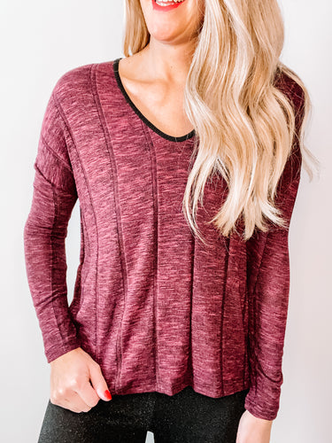 Wine Down Knit Top