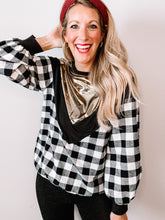 Load image into Gallery viewer, Very Merry Flannel Top - White