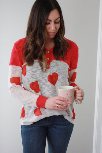 Grateful Heart Henley Top