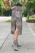 Load image into Gallery viewer, Brookston Leopard Skirt