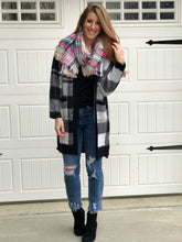 Load image into Gallery viewer, Pop of Plaid Cardigan