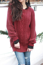 Load image into Gallery viewer, Cranberry Cozy Sweater
