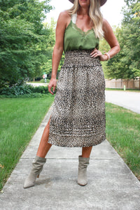 Brookston Leopard Skirt