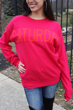 Load image into Gallery viewer, FLASH SALE / Hooray It's Saturday Sweater