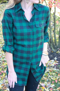Holiday Flannel Tunic