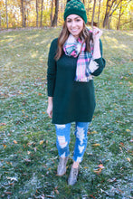 Load image into Gallery viewer, Pops of Pink Plaid Scarf
