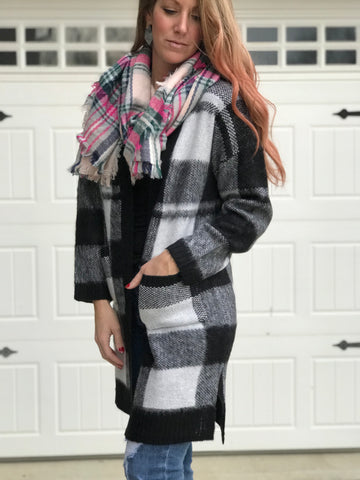 Pop of Plaid Cardigan