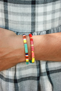 Glass Bead Stacker Bracelets