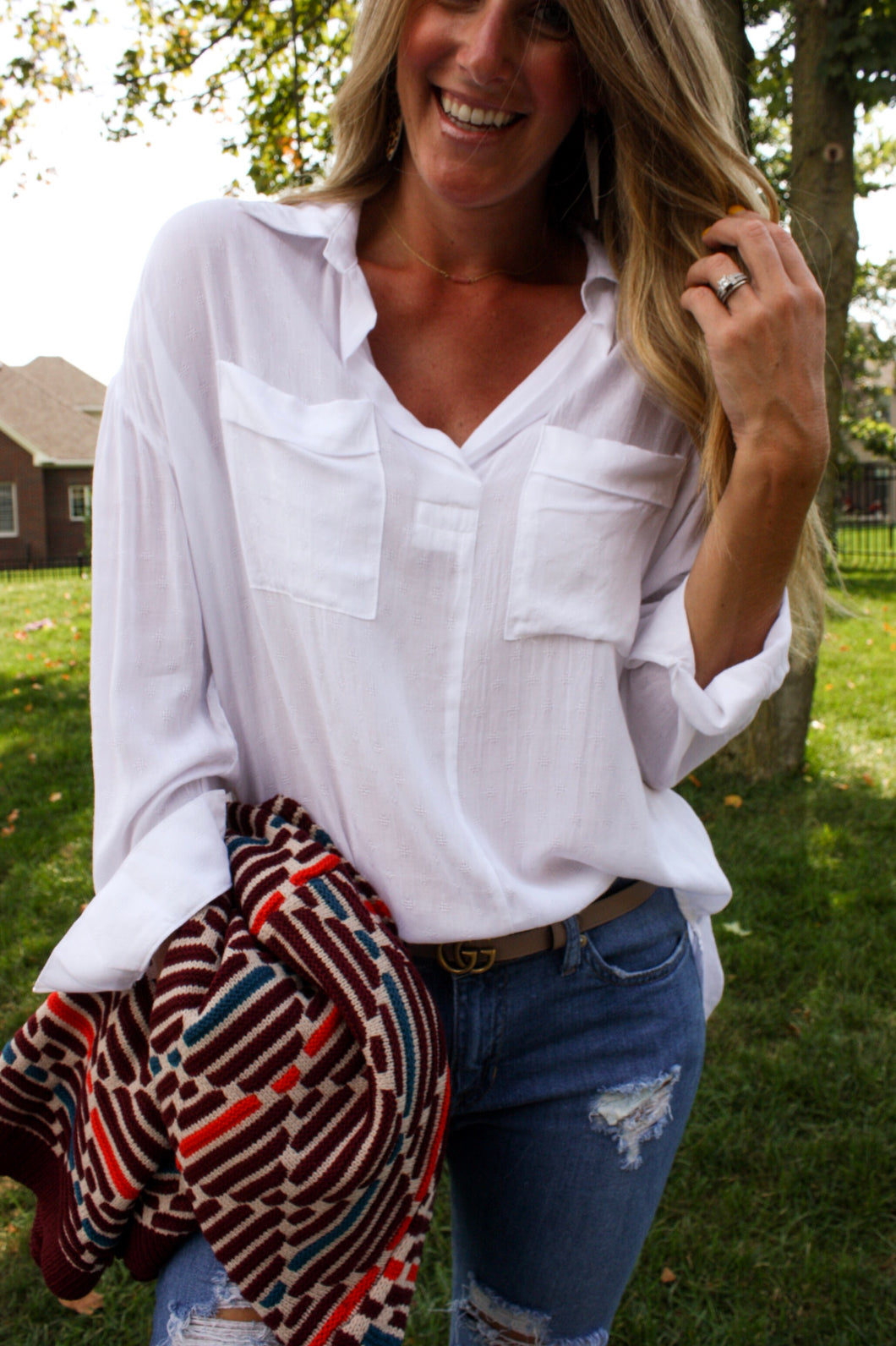 Crisp White Blouse