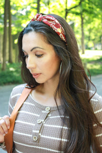 Metallic Leaf Headband