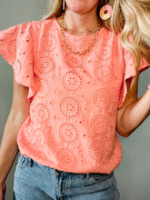 Load image into Gallery viewer, Lost in Love Eyelet Top