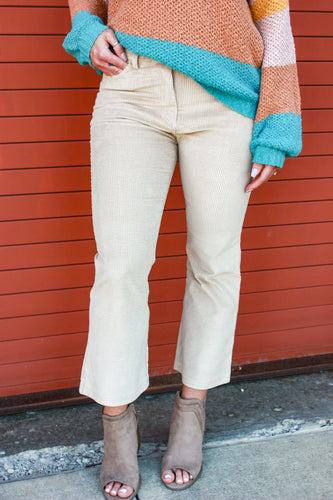 Corduroy Crop Pants