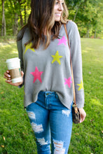 Load image into Gallery viewer, Neon Lights Star Sweater