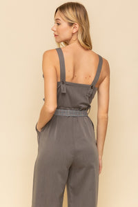 Tweed Trim Jumpsuit