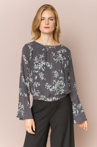 Open Back Floral Blouse