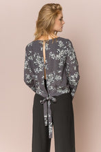 Load image into Gallery viewer, Open Back Floral Blouse