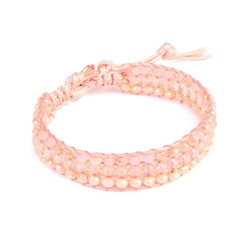 Pop of Pink Beaded Bracelet