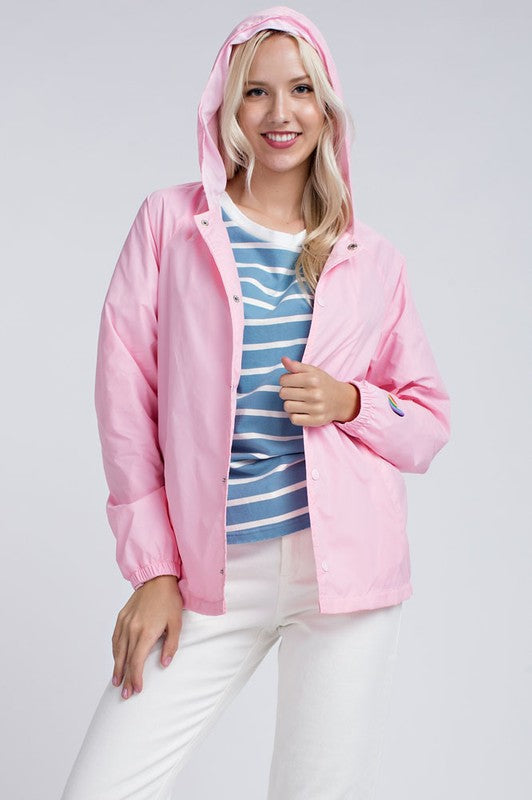 Pretty in Pink Windbreaker