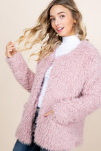 Load image into Gallery viewer, Plush Fur Jacket - Mauve