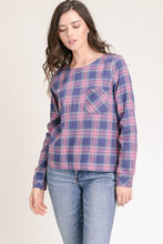 Load image into Gallery viewer, Bright Plaid Blouse
