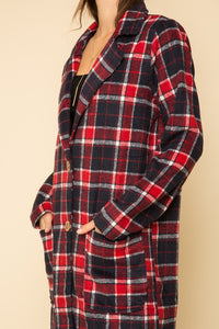 Plaid Dress Coat