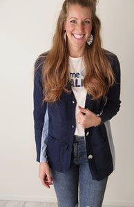 Knock Out Navy Cardigan