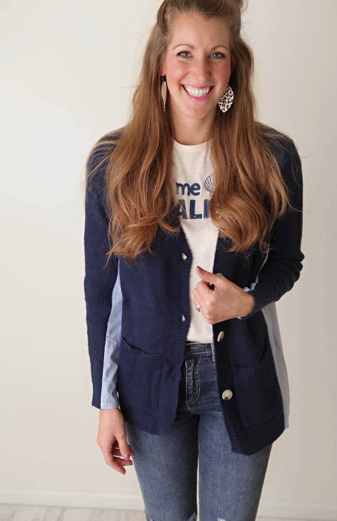 *Deal of the Day* Knock Out Navy Cardigan