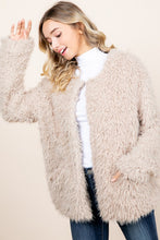 Load image into Gallery viewer, FLASH SALE / Plush Fur Jacket - Taupe