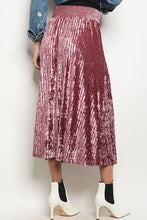 Load image into Gallery viewer, Party Ready Velvet Skirt